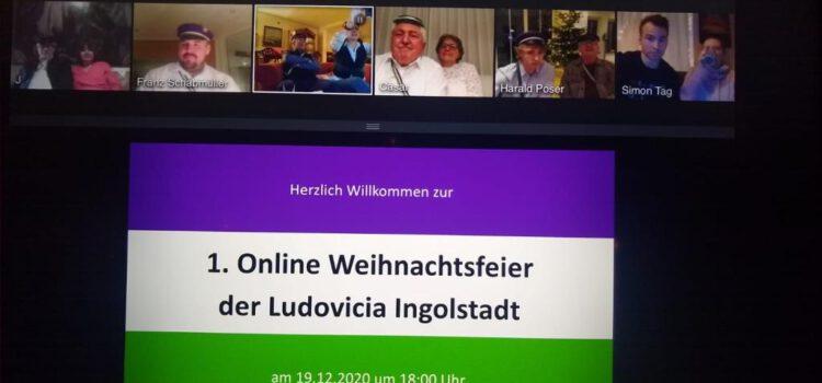 Erste Online  Weihnachtsfeier der Ludovicia  und Fuxenaktion Dezember 2020