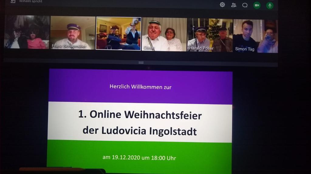 Online Weihnachtsfeier der Ludovicia